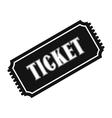 Vintage ticket simple icon vector image