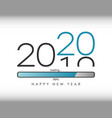 2020 new year with loading bar vector image vector image