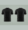 3d or realistic black t-shirt or shirt wear vector image