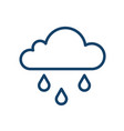 abstract icon wet and rainy weather with drops vector image