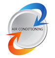 air conditioning heat and cooling vector image vector image