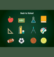 back to school object pack vector image