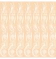 background beige floral elements vector image vector image