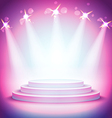 Background Lights over pedestal your business vector image vector image