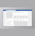 browser window with web page concept social vector image