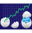 business eggs hatch vector image vector image