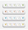 Buttons for web page vector image vector image