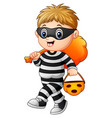 cartoon thief vector image