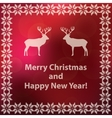 christmas and new year red greeting card vector image vector image