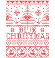 christmas pattern blue christmas carol vector image vector image