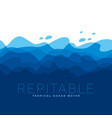concept blue sea water waves pattern vector image vector image