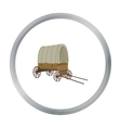 Cowboy wagon icon cartoon Singe western icon from vector image vector image