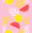 creative fruit pattern vector image vector image