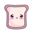 cute food bread sweet dessert kawaii cartoon vector image vector image