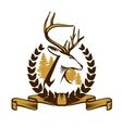 Deer Emblem vector image vector image