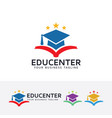 education center logo design vector image