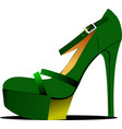 Fashion woman shoes vector image