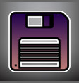 floppy disk sign violet gradient icon vector image vector image