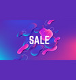 fluid sale background abstract gradient shape vector image
