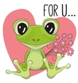 Froggy with flowers vector image