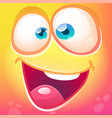 funny cartoon monster face vector image vector image