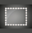 glass frame with lights isolated vector image vector image