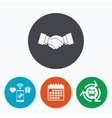 Handshake sign icon Successful business symbol vector image vector image