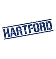 Hartford blue square stamp vector image vector image