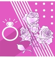 High quality rose and ring vector image vector image