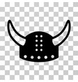 horned helmet icon vector image vector image