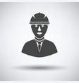 icon of construction worker head in helmet vector image vector image