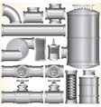 Industrial Pipeline Parts vector image vector image