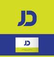 j and d letter monogram web business card vector image vector image