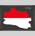 jawa barat indonesia map with indonesian national vector image vector image