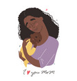 mothers day greeting card black african american vector image vector image