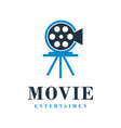 movie logo design vector image