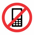 no mobile phone icon vector image vector image
