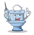 nurse toilet character cartoon style vector image