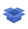 Open blue box on white vector image vector image