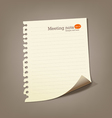Paper meeting note vector | Price: 1 Credit (USD $1)