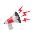 pixel retro megaphone vector image