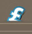 pound money icon design vector image vector image