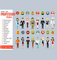 Profession people and avatars collection Cartoon vector image