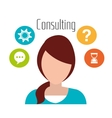 Professional business consulting vector image vector image