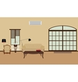 room furnished with furniture modern flat vector image