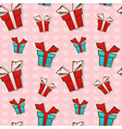 Seamless repeating pattern with colorful gift boxe vector image vector image