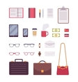 Set of business items vector image