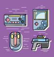 set videogame technology activity to recreation vector image vector image