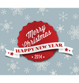 Simple vintage retro Christmas card 2014 vector image vector image