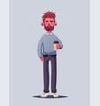 sleepy businessman character cartoon vector image